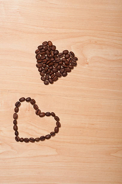 coffee hearts stock photo
