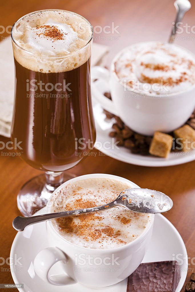 Coffee Hot And Cold royalty-free stock photo