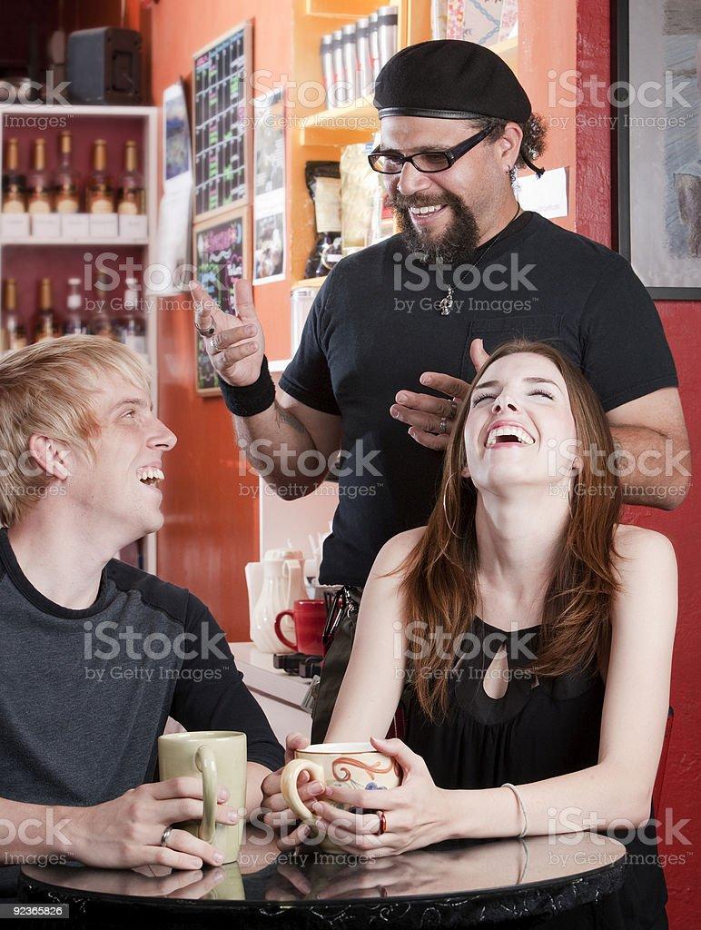 Coffee House Conversation royalty-free stock photo