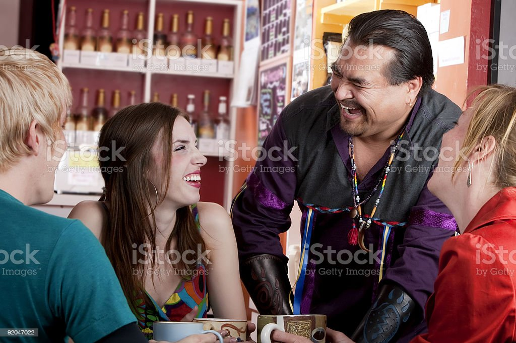 Coffee House Friends royalty-free stock photo