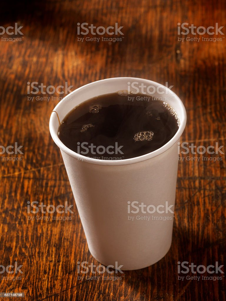 Coffee in a take Out Cup stock photo