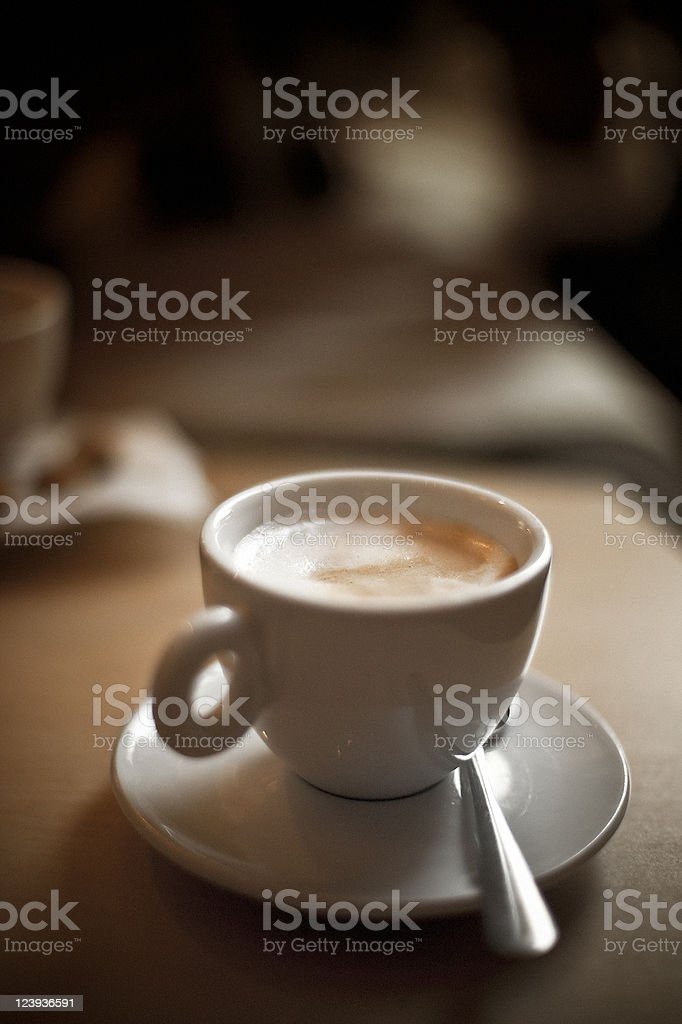 Coffee in a White Cup royalty-free stock photo