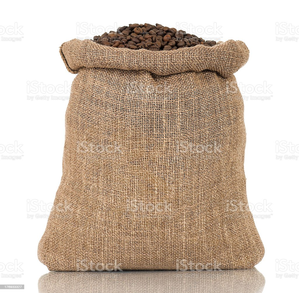 Coffee in bag royalty-free stock photo