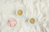 istock Coffee in bed. Selective focus. Love drink. 1095221586