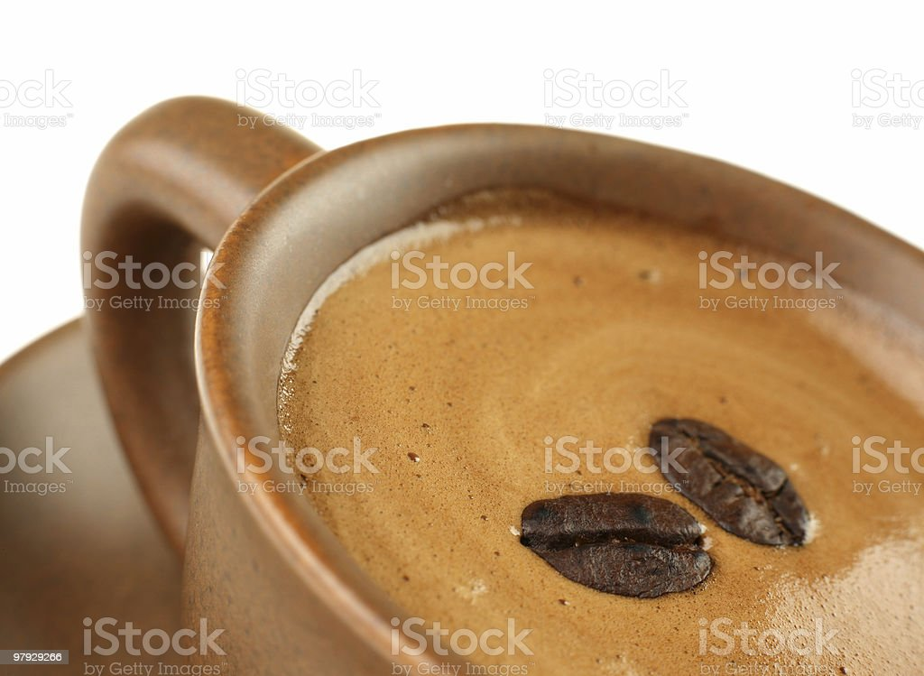 Coffee in brown cup royalty-free stock photo