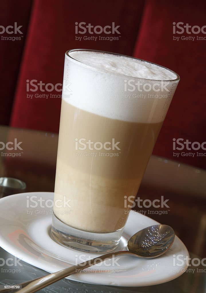 Coffee in cafe royalty-free stock photo