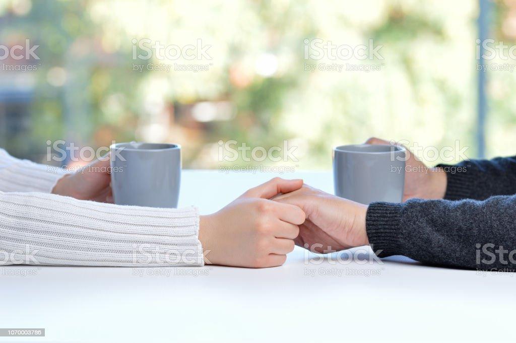 coffee in good company stock photo