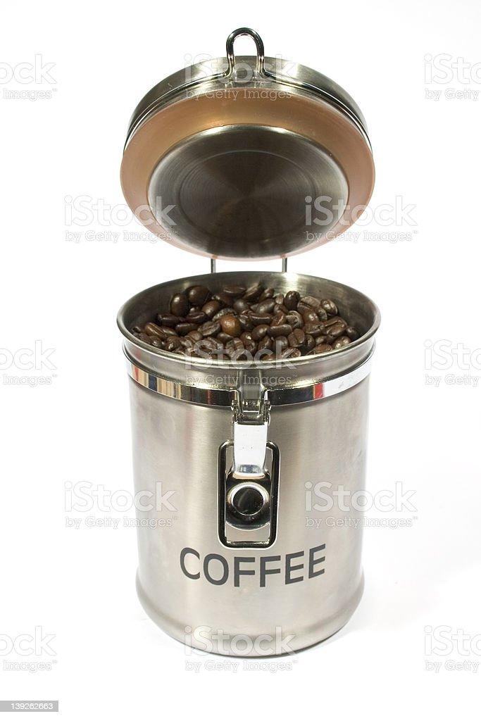 Coffee, in Jar stock photo