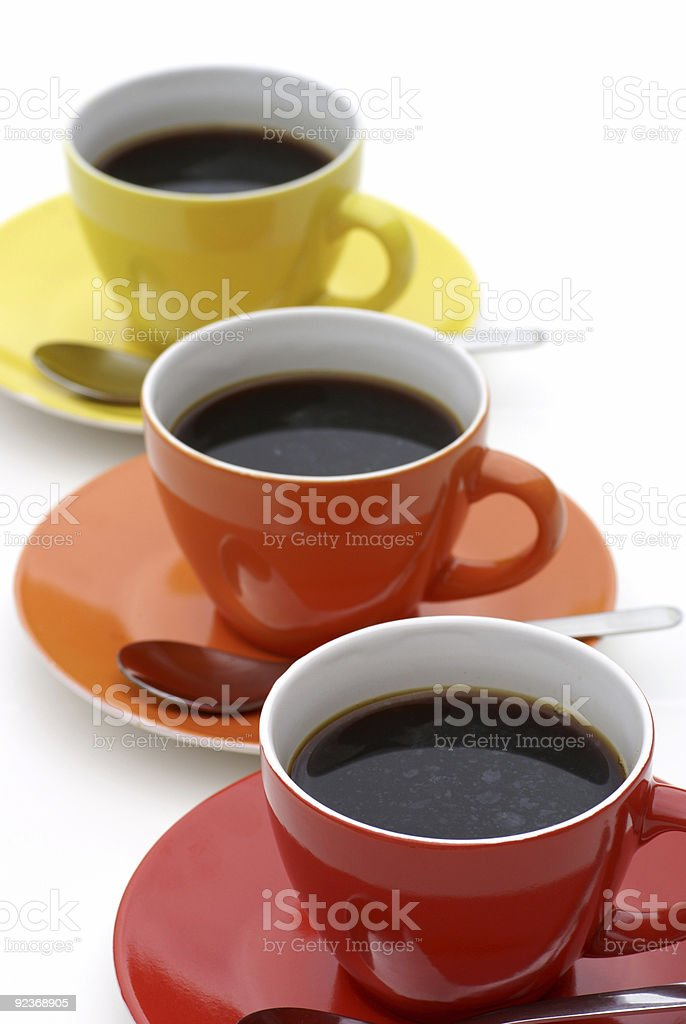 Coffee in line. royalty-free stock photo