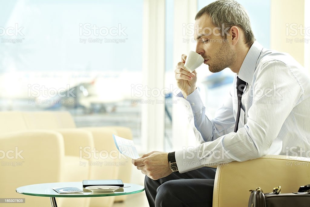 Coffee in the airport royalty-free stock photo