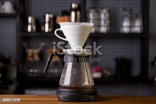 istock Coffee in the filter purover V60 626311316