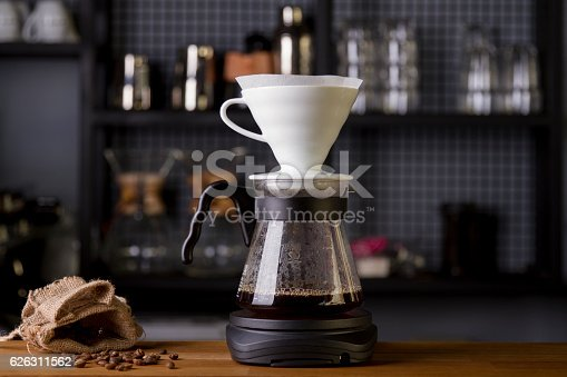 istock Coffee in the filter purover V60 626311562
