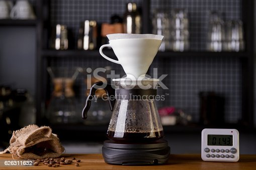istock Coffee in the filter purover V60 626311632