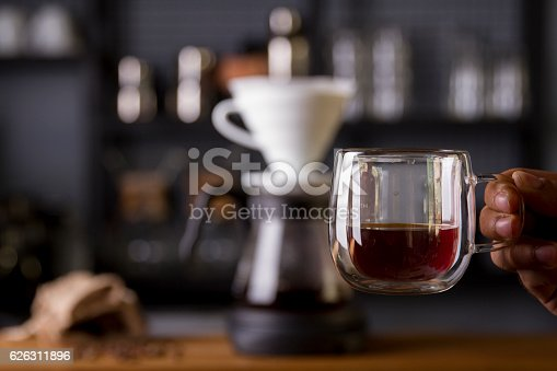 istock Coffee in the filter purover V60 626311896