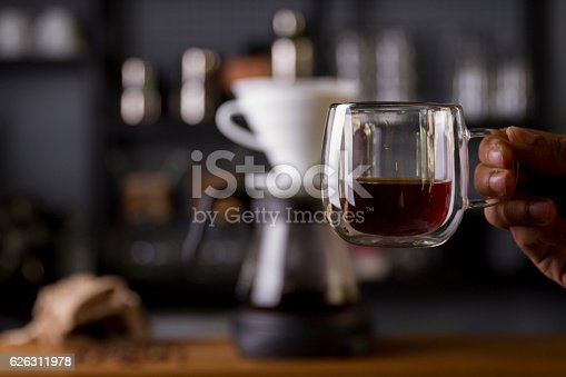 istock Coffee in the filter purover V60 626311978