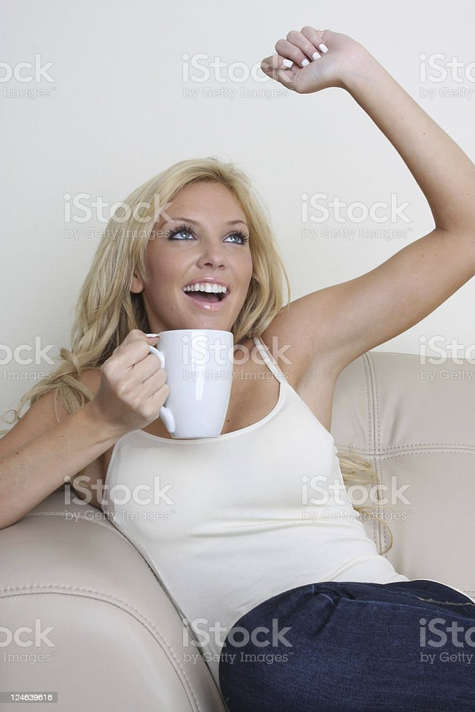 coffee in the morning royalty-free stock photo