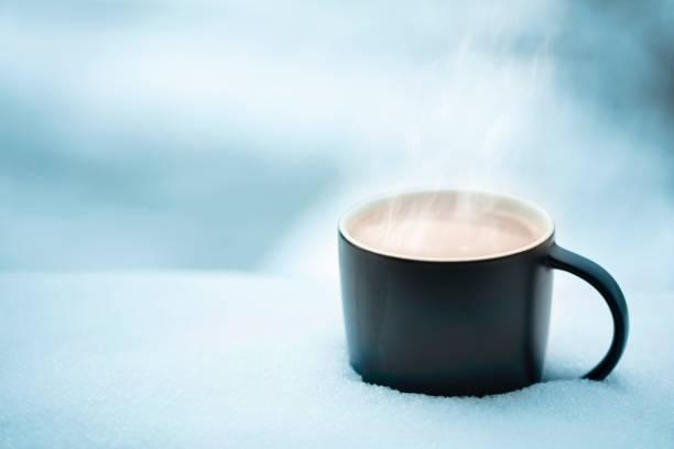 Kaffee im Schnee – Foto