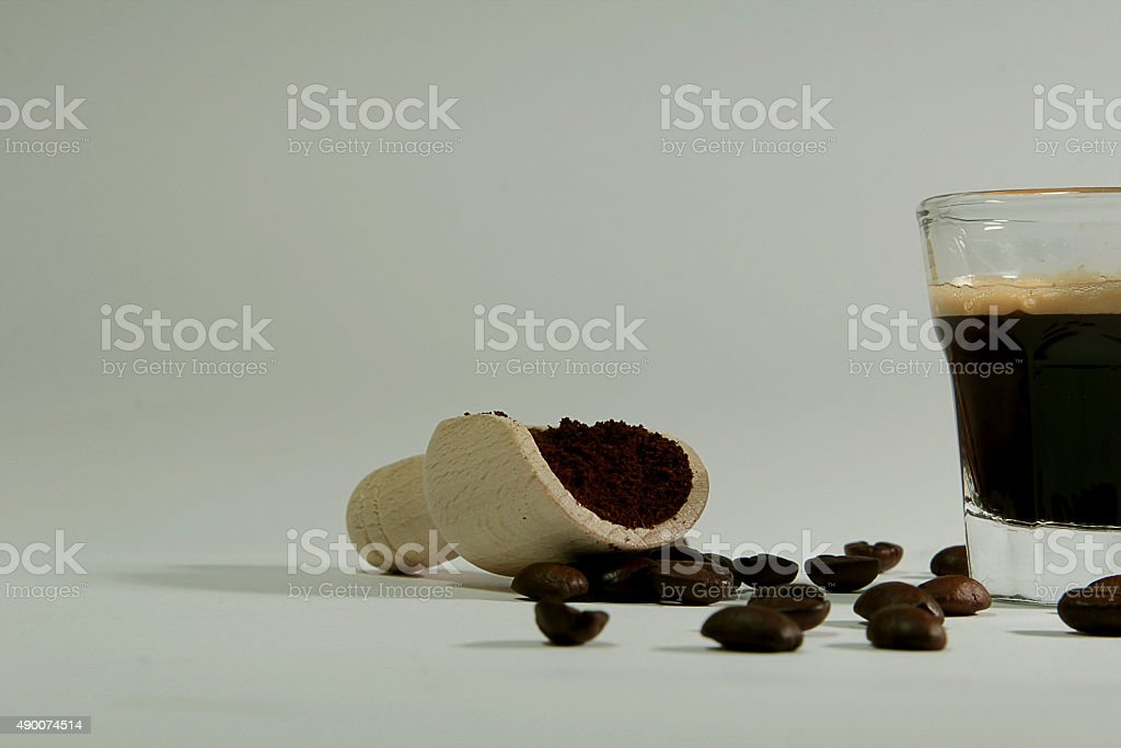 coffee in three moves stock photo