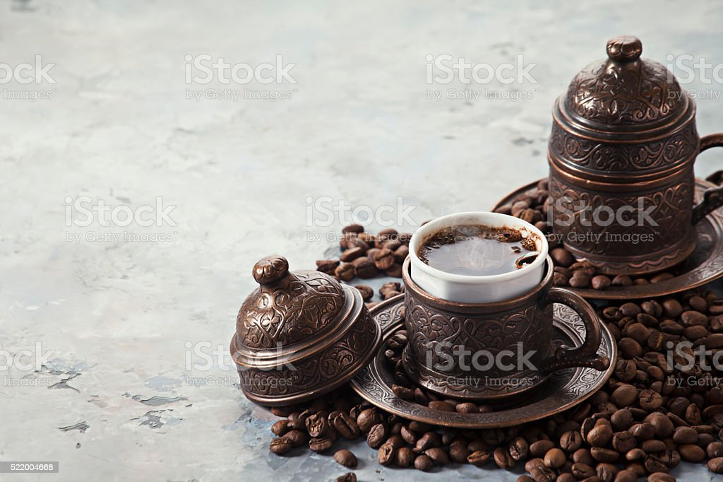 Coffee in Turkish style royalty-free stock photo