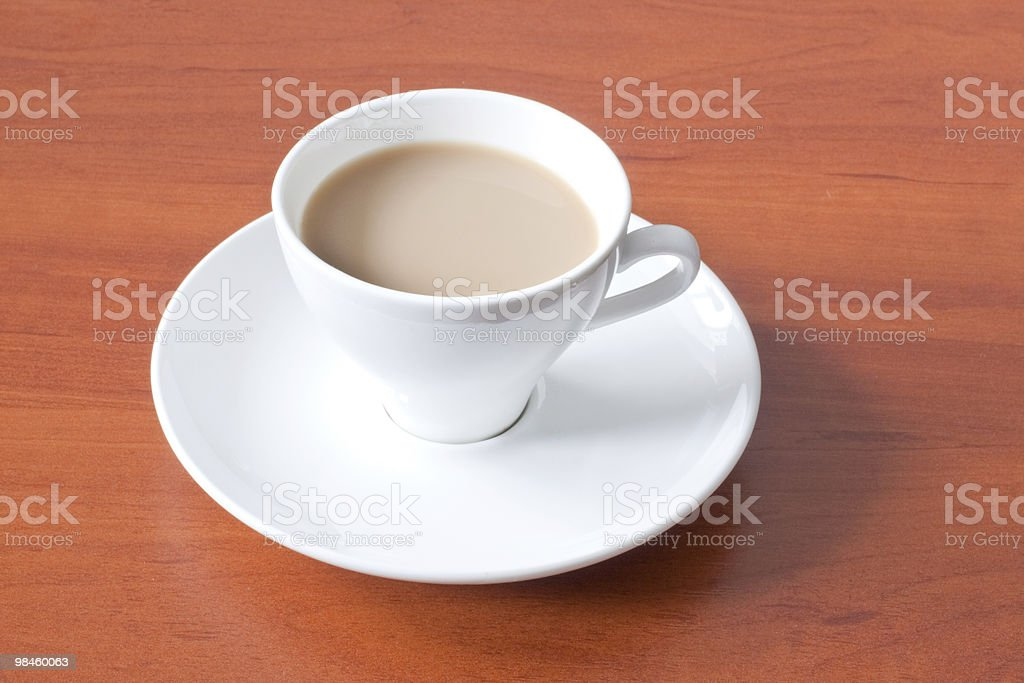 coffee in white cup over table royalty-free stock photo