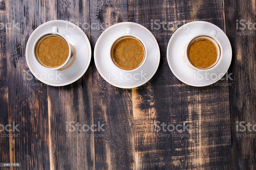 coffee in white cups stock photo