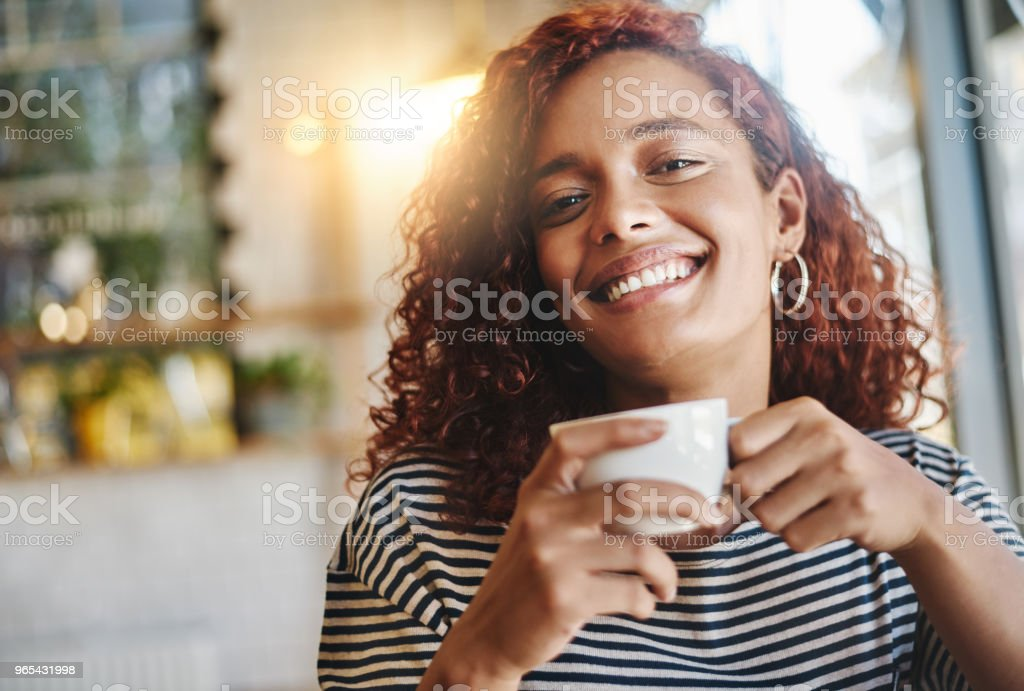 Coffee is a great way to spend time with you royalty-free stock photo