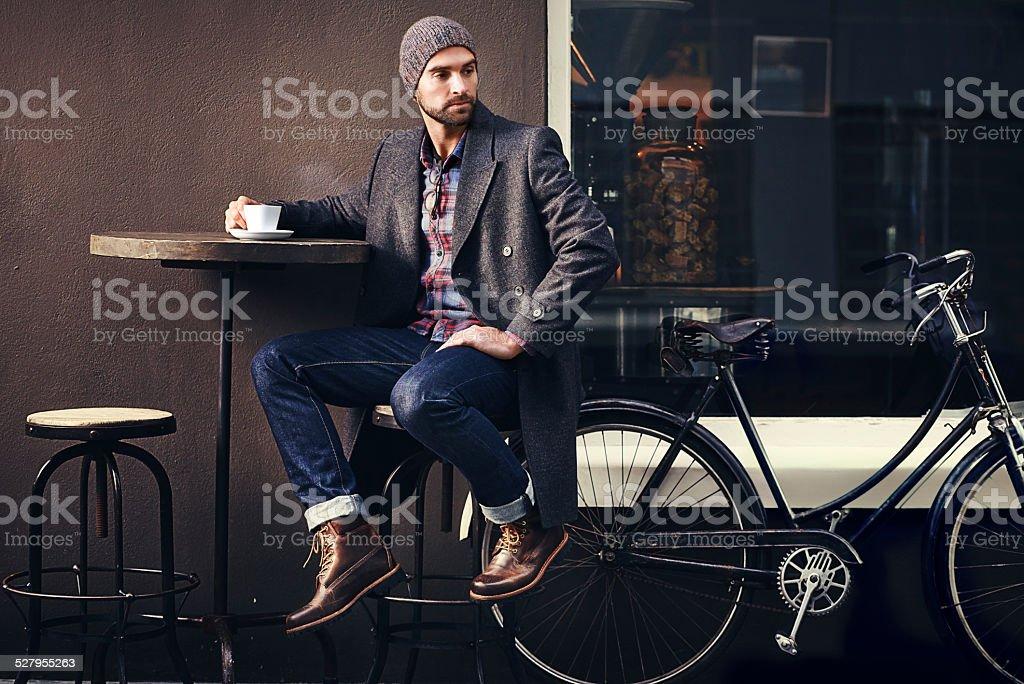 Café siempre es una buena idea - foto de stock