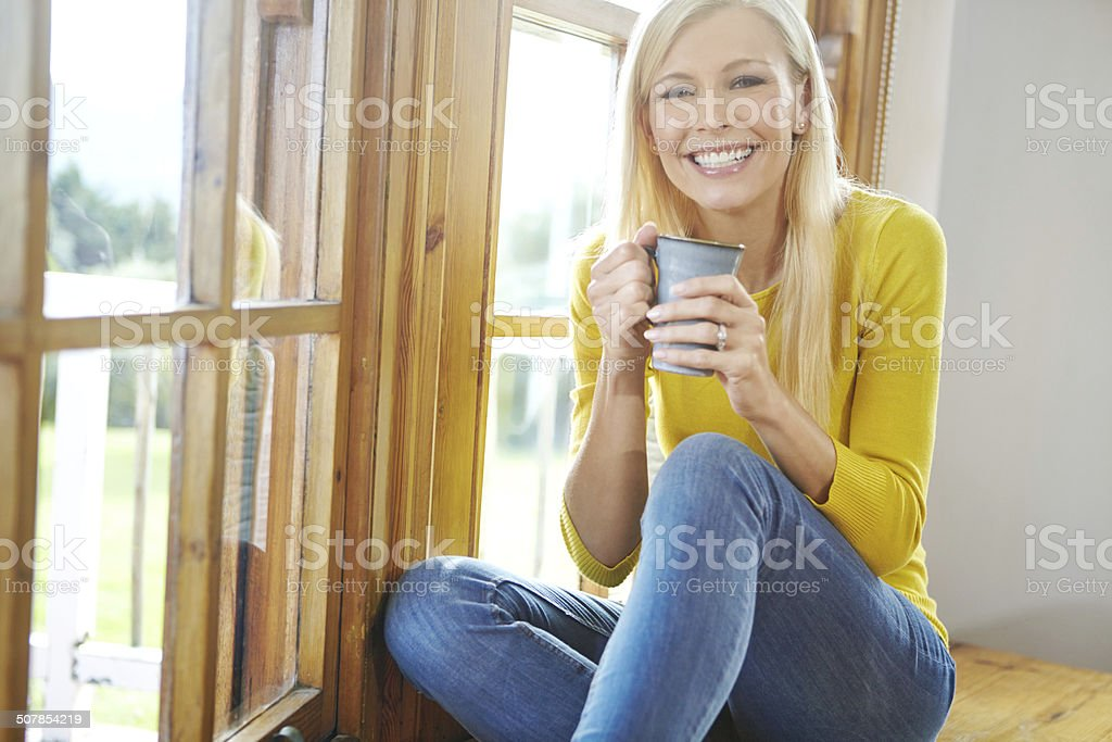 Coffee is the most important meal of my day stock photo