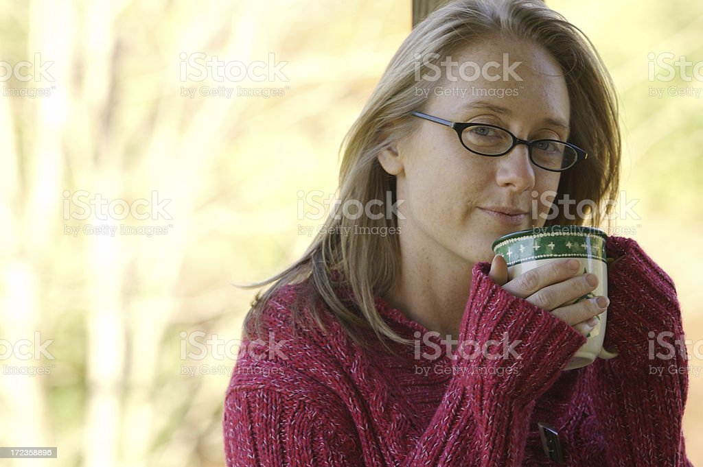 Coffee keeps me warm royalty-free stock photo