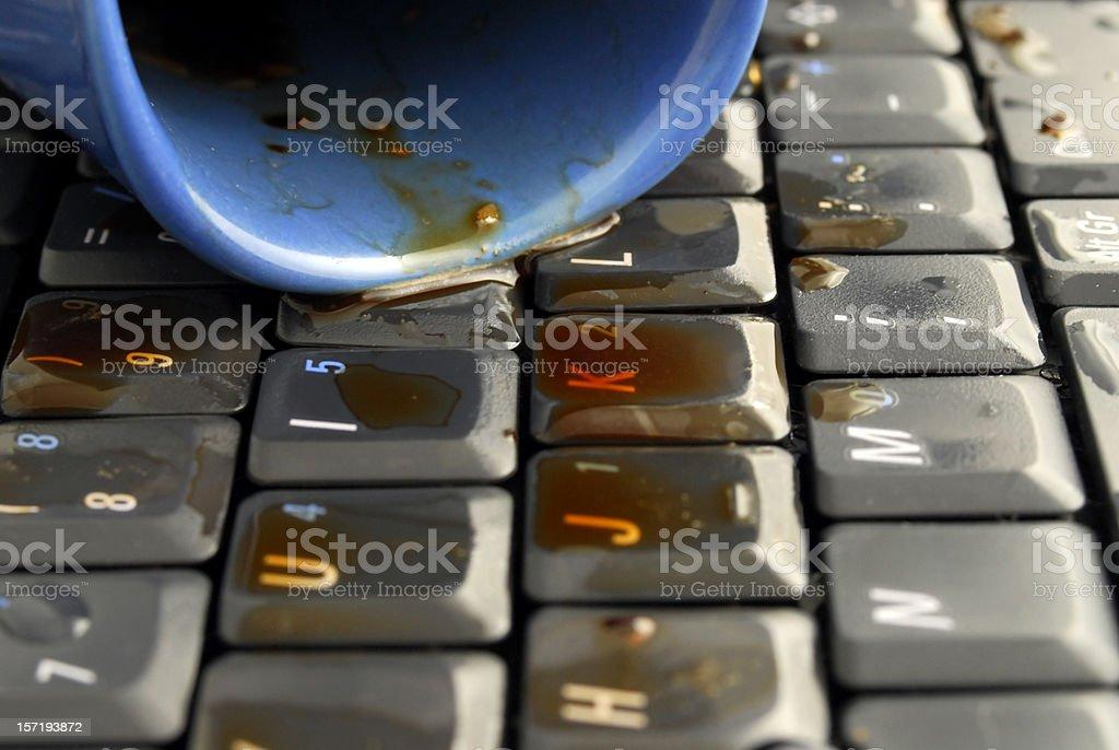 coffee keyboard 2 stock photo