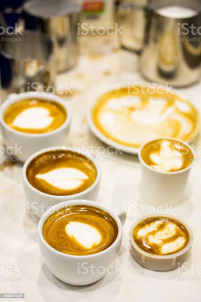 Coffee latte art royalty-free stock photo