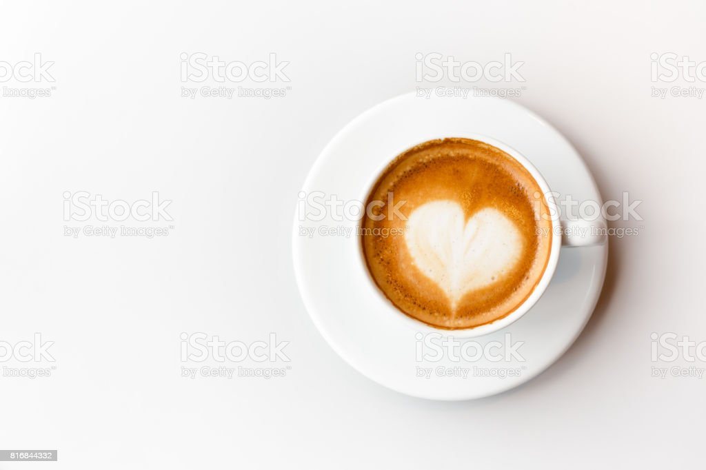 coffee latte on white background