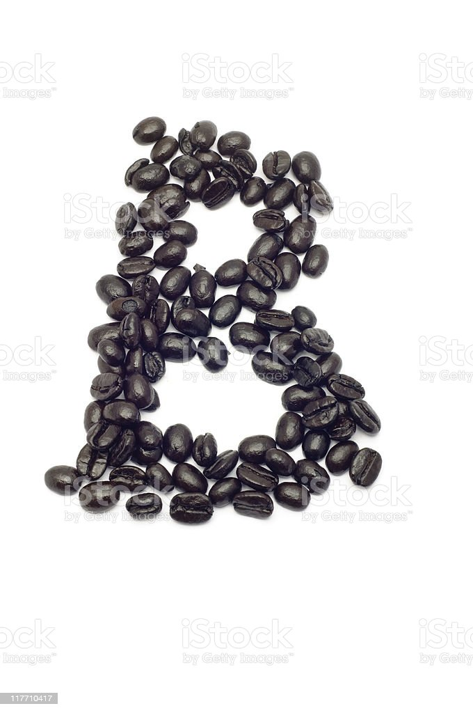 Coffee Letter B royalty-free stock photo
