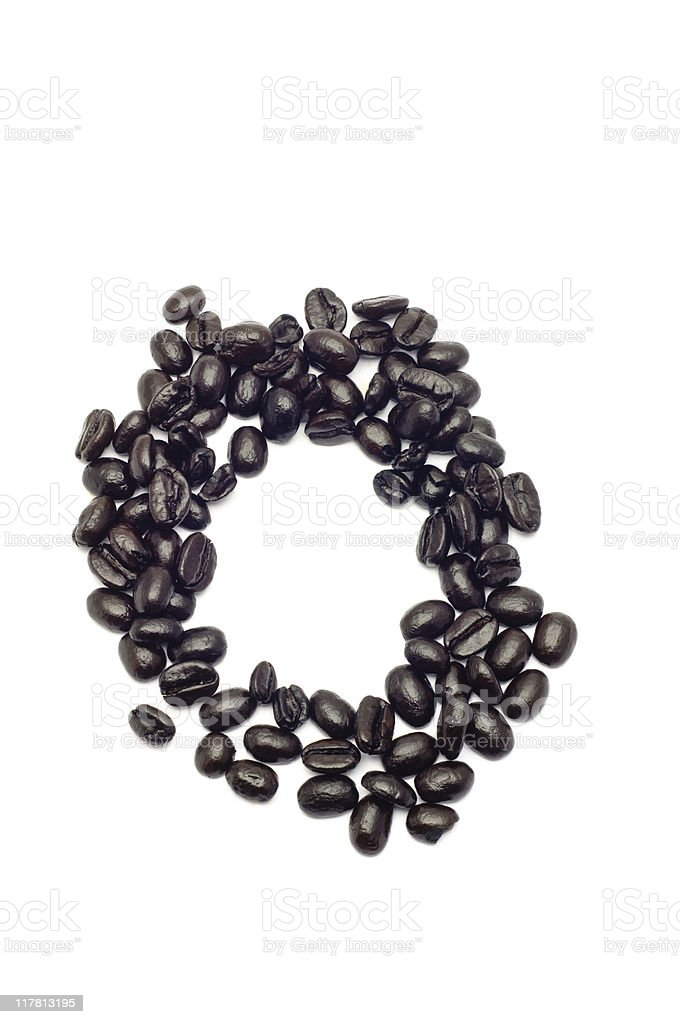 Coffee Letter O royalty-free stock photo