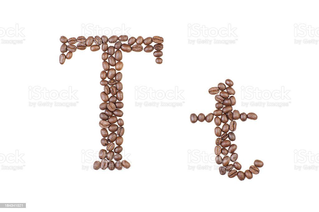 Coffee Letter stock photo