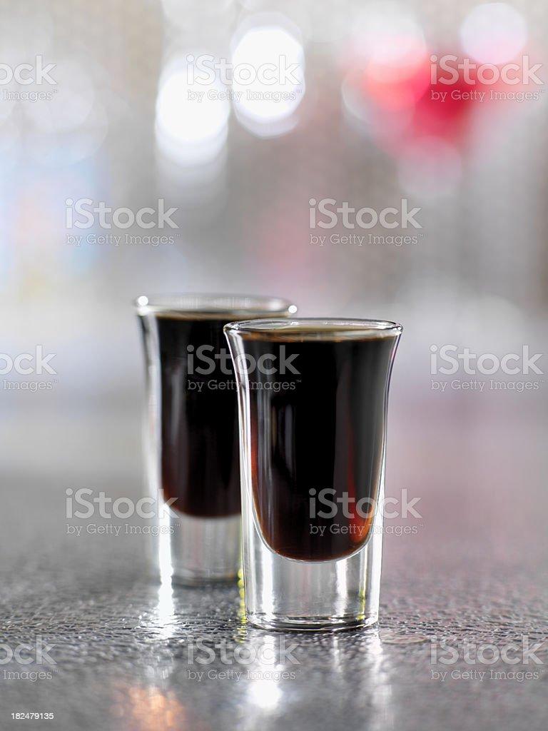 Coffee Liquore shooters stock photo