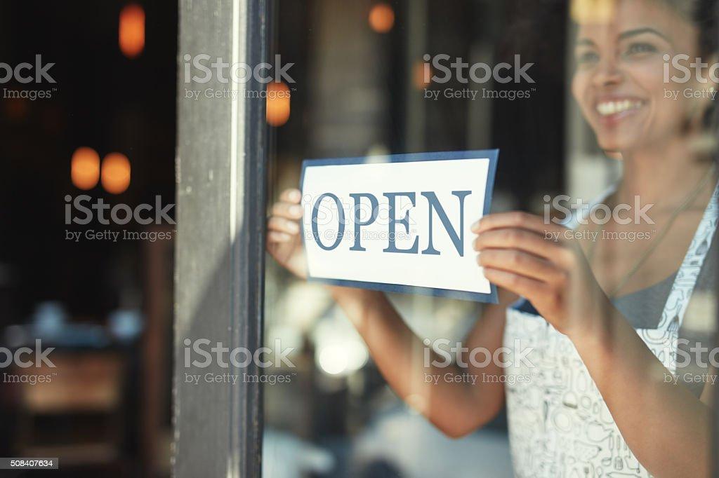 Coffee lovers welcome! stock photo