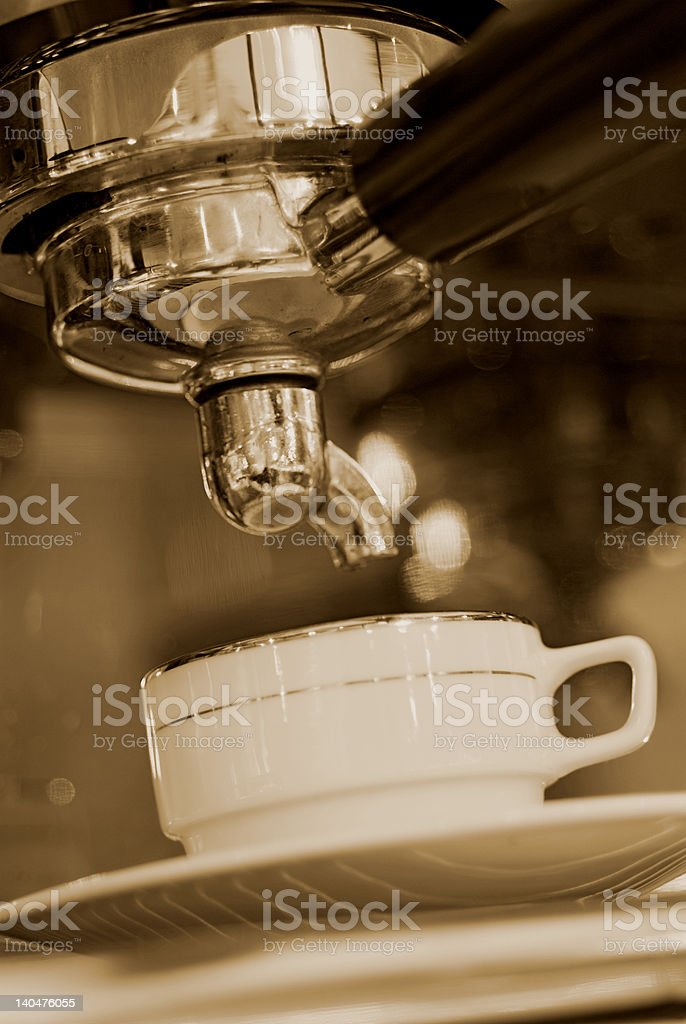 Coffee Machine before action royalty-free stock photo