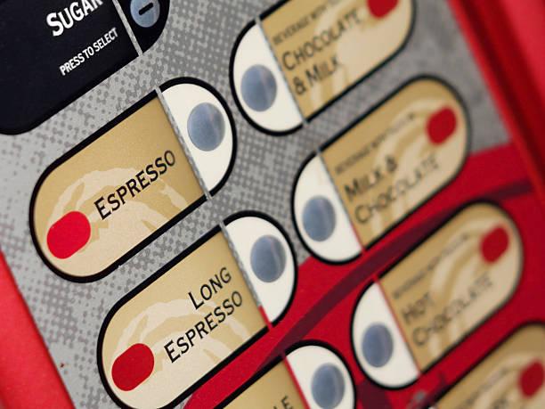 Kaffeemaschine der Tastatur – Foto