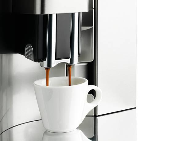 macchina per il caffè - argento metallo caffettiera foto e immagini stock