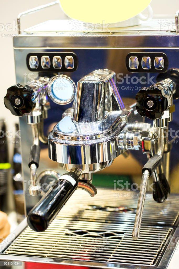Coffee machine ready to use royalty-free stock photo
