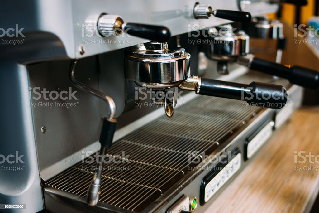 coffee machine. professional modern restaurant or bar equipment....