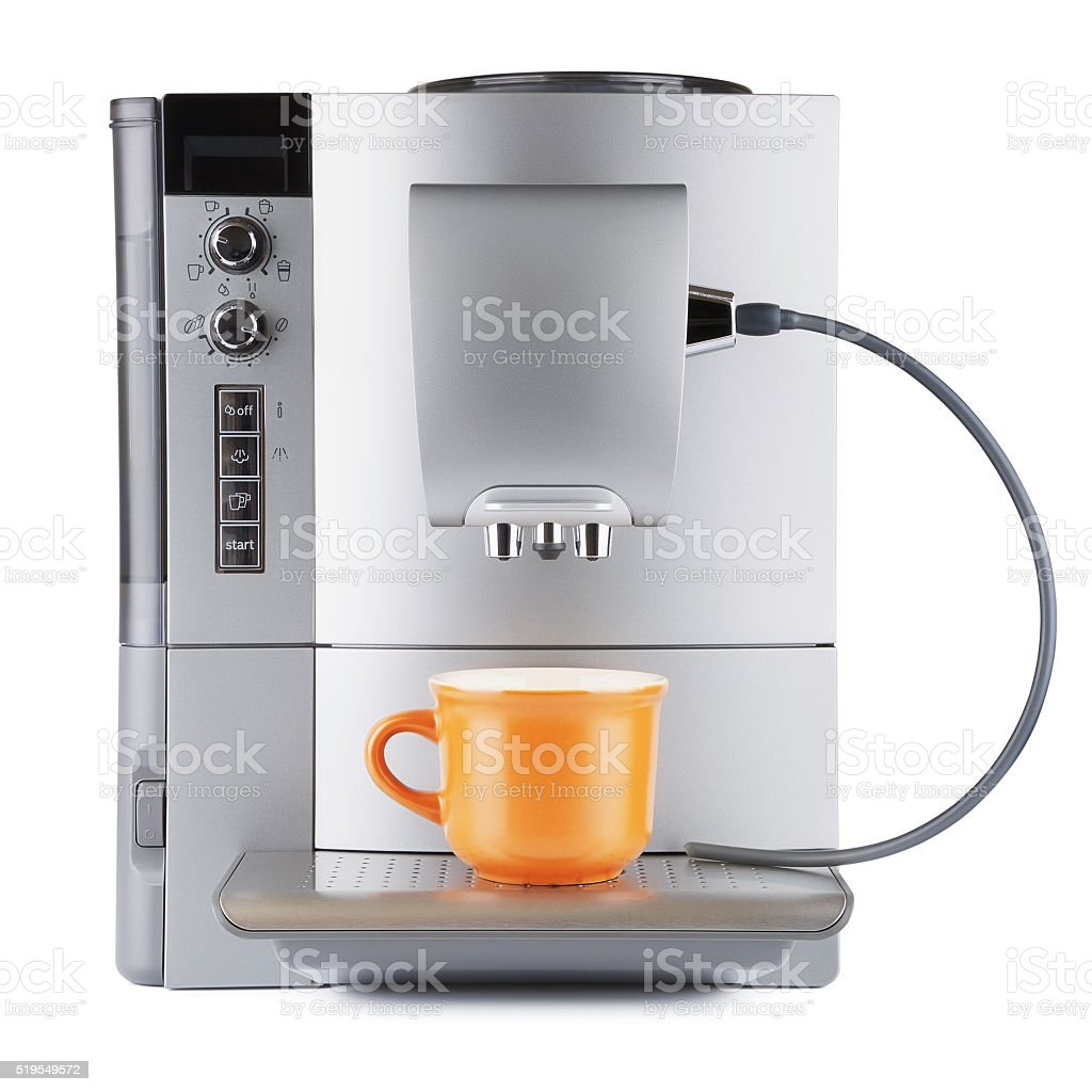Coffee Machine With Cup stock photo