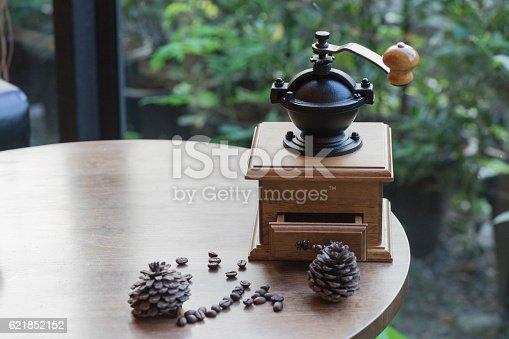 istock coffee maker and coffee seed 621852152