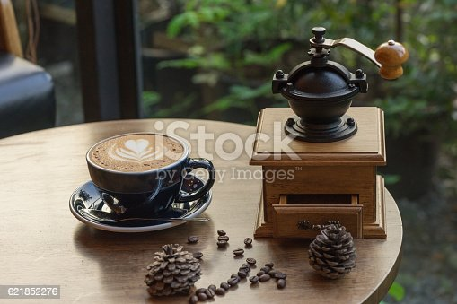 istock coffee maker and hot coffee 621852276