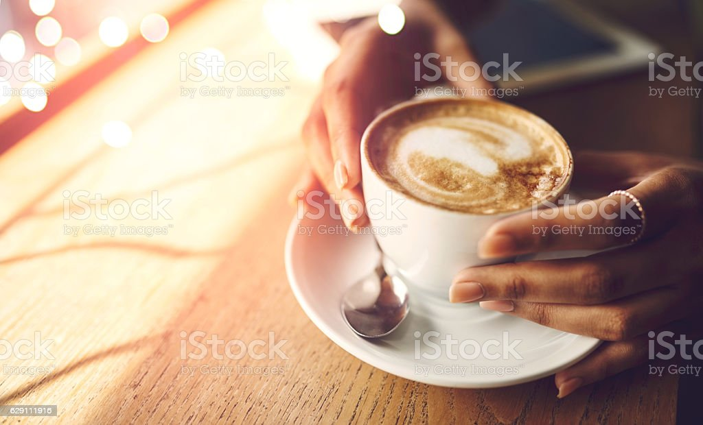 Coffee makes everything possible - Royalty-free Afrikaanse etniciteit Stockfoto