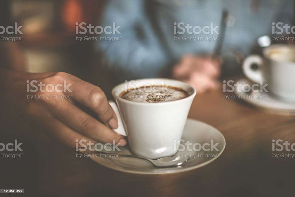 Coffee makes everything possible. stock photo