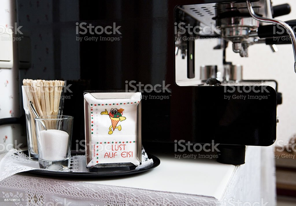 coffee maschine in a coffeebar royalty free stockfoto