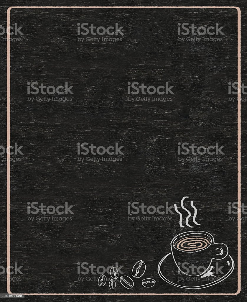 coffee menu barista recommended written on blackboard background high resolution stock photo
