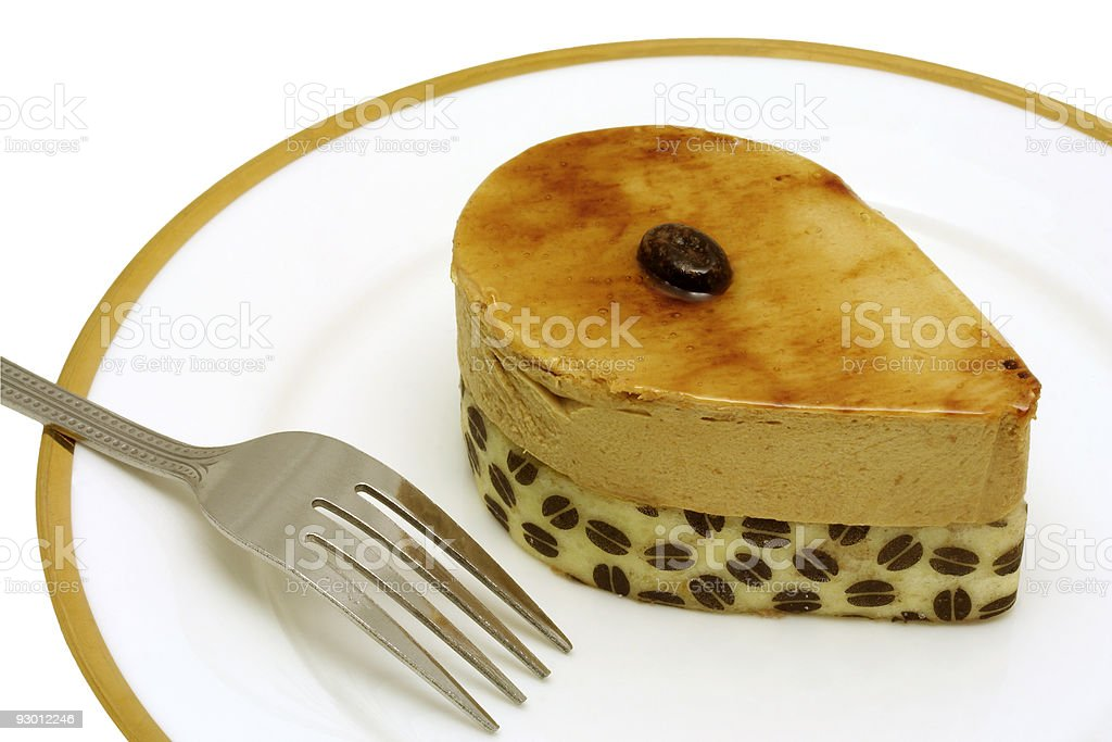 Coffee mousse cake royalty-free stock photo